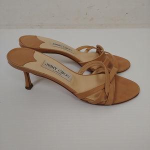 Jimmy Choo Brown Heel Sandals